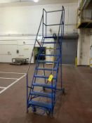 10 step safety ladder, mobile [Packaging Warehouse]