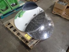 [LOT] (3) misc. convex safety mirrors [Palletizing Area]