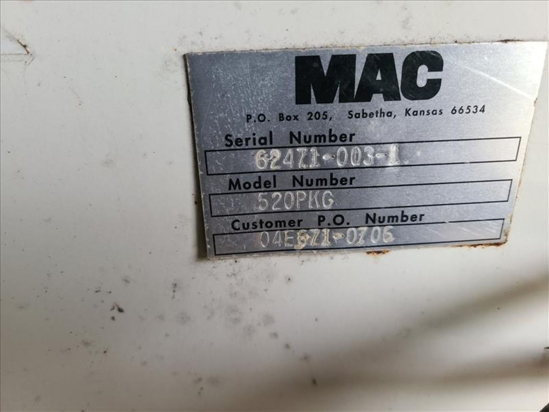 [LOT] (3) MAC stand/frames, with muffler [Storage Shed] - Image 3 of 7
