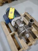 Fristam stainless centrifugal pump, mod FPR 3532-140, with 7.5 hp motor [Packaging Warehouse]