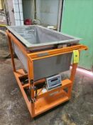 """Rice Lake stainless hopper bin on load cell, mod 480 PLUS, 58""""l x 30""""w x 36"""" deep, mobile [Tower,"""