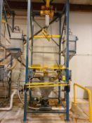 Flexicon bulk bag handling system, mod 67547, s/n 362910, with stainless hopper, rotary valve dust