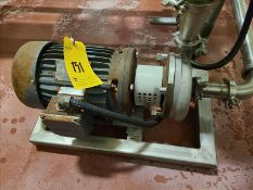 Fristam stainless centrifugal pump, mod FT202-115, s/n 75923, with 5 hp motor on stainless frame [