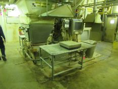 """Hopper scale on load cell, 8' x 10' x 115"""" deep, with read out, stainless table, touch screen, table"""