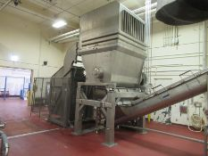 """CFS stainless block crusher, mod P800, s/n 87406, on stainless frame 6'10"""" wide x 4'8"""" deep, V-"""