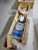 """Stafsjo 316 stainless pneumatic gate valve, mod HGL025UOOY50, 10"""" [Packaging Warehouse]"""
