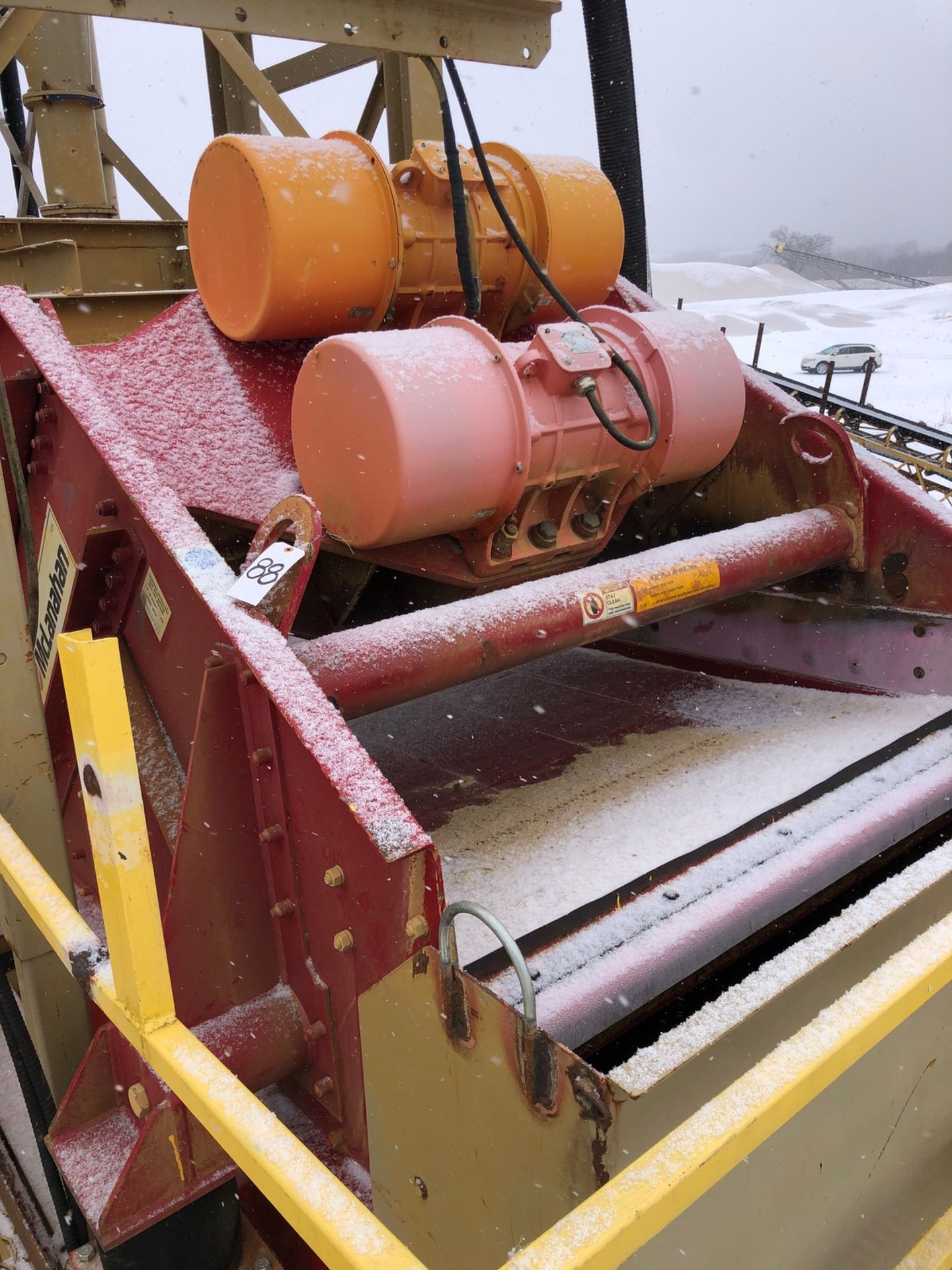 McLanahan Model VD15 5' x 12' Single Deck Dewatering Screen, S/N 20123079, Asset #DWS - Subj to Bulk