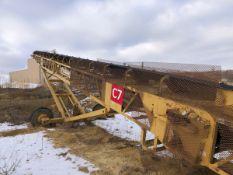 "Screen Machine 24"" x 80' Portable Radial Stacking Conveyor, S/N TE80-30-D-AB2575, Ass - Subj to Bulk"