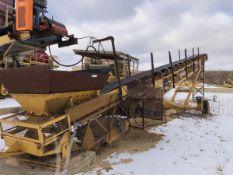 "Screen Machine 30"" x 80' Portable Radial Stacking Conveyor, S/N TE80-30-D-AB2613, Ass - Subj to Bulk"
