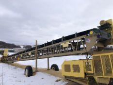"""American Bin & Conveyor Model 36100 36"""" x 100' Portable Power Belt Conveyor, S/N 14-6 - Subj to Bulk"""