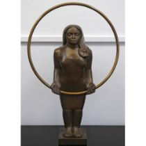 André Wallace (born 1947)'Girl with Hoop' 2002 - 2003 .