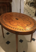 Painted and inlaid satinwood table. Circa 1890/1900