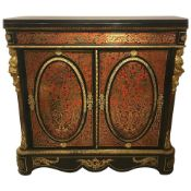 A pair of Andre-Charles Boulle (style) cabinets, circa 1860-1870. A pair of cabinets in the style