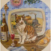 Catscanvas by K. Celia Wood. With over 50 illustrations.  K. Celia Wood. Oil on artist board.