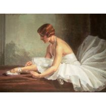 Suzanne Daynes-Grassot (French 1884-1976) A Ballerina. 50 cm x 65 cm A French School painter of