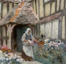 Arthur Claude Strachan (1865 – 1935) Watercolours Image 27 x 18 cms Frame size 43 x 32 cms 'Flowers