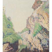 Reginald Francis Reynolds (1870-1936) 'The Upward Path' (Exhibited Royal Academy 1936) Oils 51 cm x