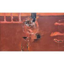 David Armitage (born 1943) 'Dream, Landscape II' 1990 oil on canvas canvas size: 1390 x 2300mm
