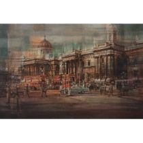 Eric Mason (1921-1986) 'The National Gallery' circa 1964 oil on canvas size: 610 x 915mm within a