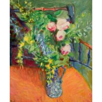 Ronald Weldon (1925-1994) 'Still Life with Flowers} Oils 61 cm x 51 cm Framed