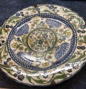 Spanish Majolica Charger 19th Century.36.8cm diameter