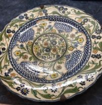 Spanish Majolica Charger 19th Century.36.8cm diameter