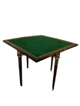This is a 19th Century parquetry inlaid card table with Ormolu gilt bronze mounts.
