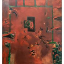David Armitage (born 1943) 'Red Painting' 1990 oil on canvas canvas size: 1760 x 1640mm Within a