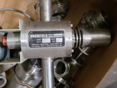 BROOKFIELD INLINE VISCOMETER WITH SANITATY FITTINGS & VALVES