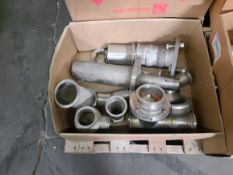 LOT OF LARGE SANITARY PROCESS FITTINGS