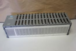 CONTROL TECHNOLOGY PLC RACK WITH 17 MODULES