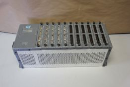 CONTROL TECHNOLOGY PLC RACK WITH 11 MODULES
