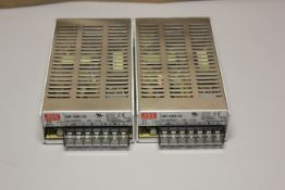 LOT OF 2 MEAN WELL AUTOMATION POWER SUPPLIES