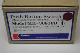NEW LOT OF KOINO PUSH BUTTON SWITCH