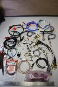 LARGE LOT OF RF MICROWAVE CABLE ASSEMBLIES & CONNECTORS