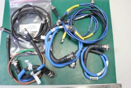 LOT OF RF MICROWAVE CABLE ASSEMBLIES - SMA,BNC,TYPE N, ETC