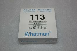NEW BOX OF 100 WHATMAN 113 125MM FILTER PAPERS