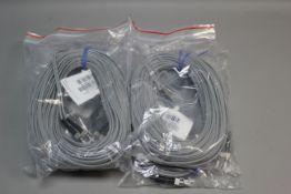 LOT OF NEW L-COM DUPLEX MULTIMODE FIBER OPTIC CABLES