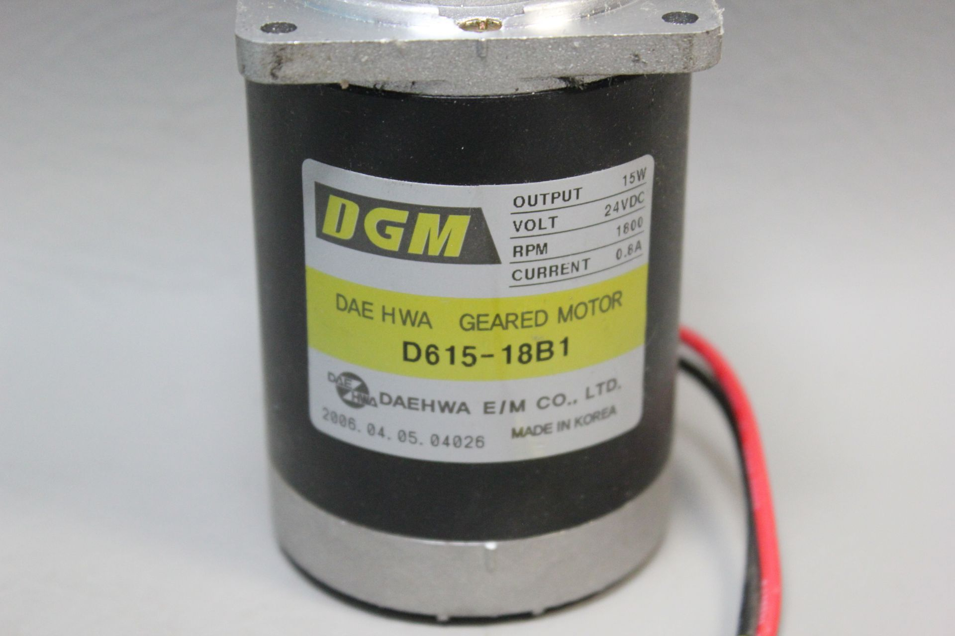 DGM 24V 15W GEARED MOTOR - Image 2 of 4