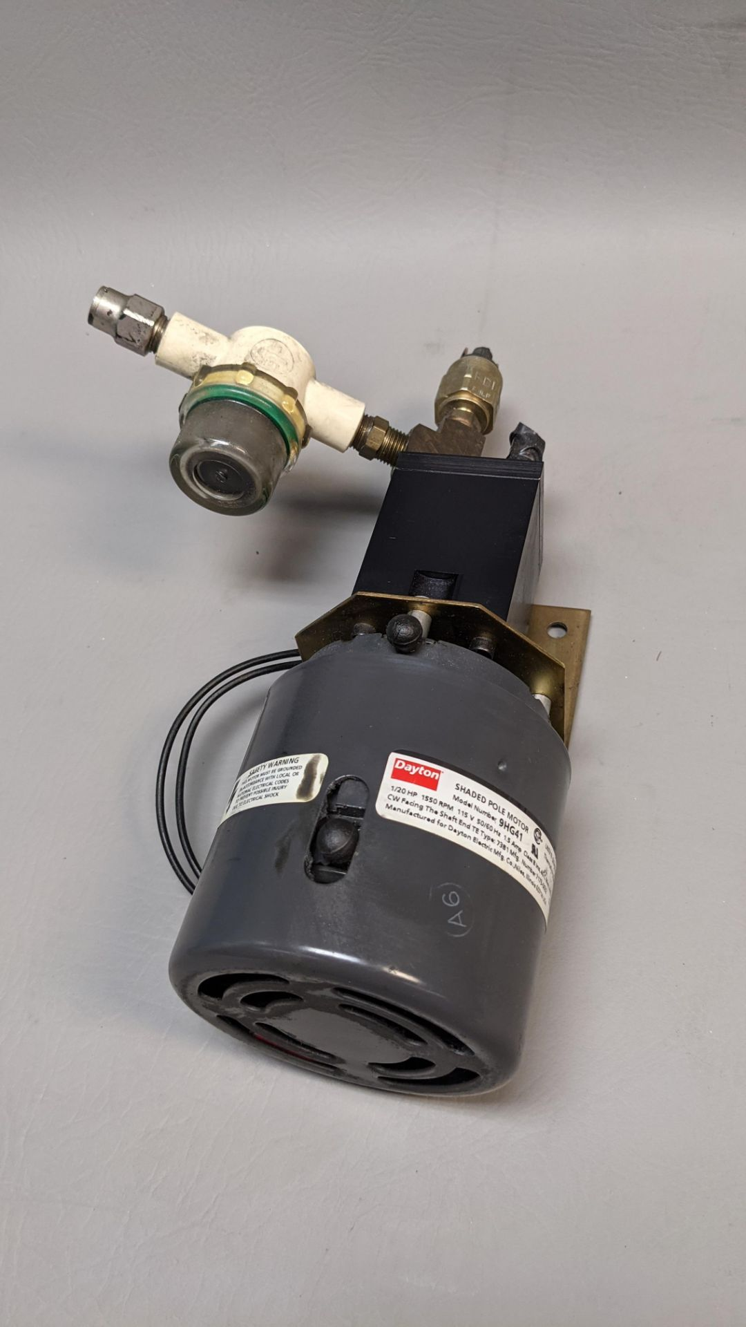 DAYTON MOTOR AND ATTACHMENT