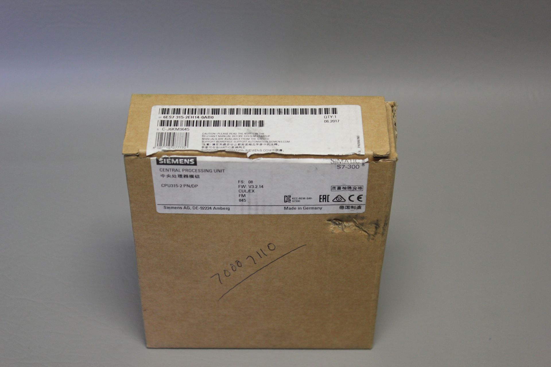 NEW SIEMENS SIMATIC S7-300 PLC CPU PROCESSOR - Image 4 of 7