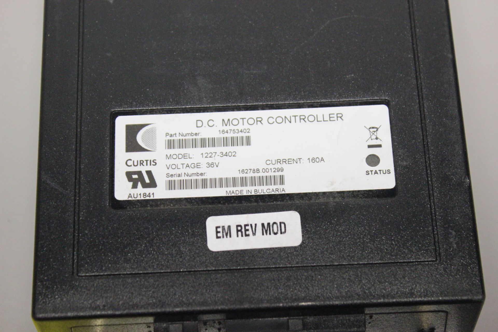 UNUSED CURTIS DC MOTOR CONTROLLER - Image 2 of 4