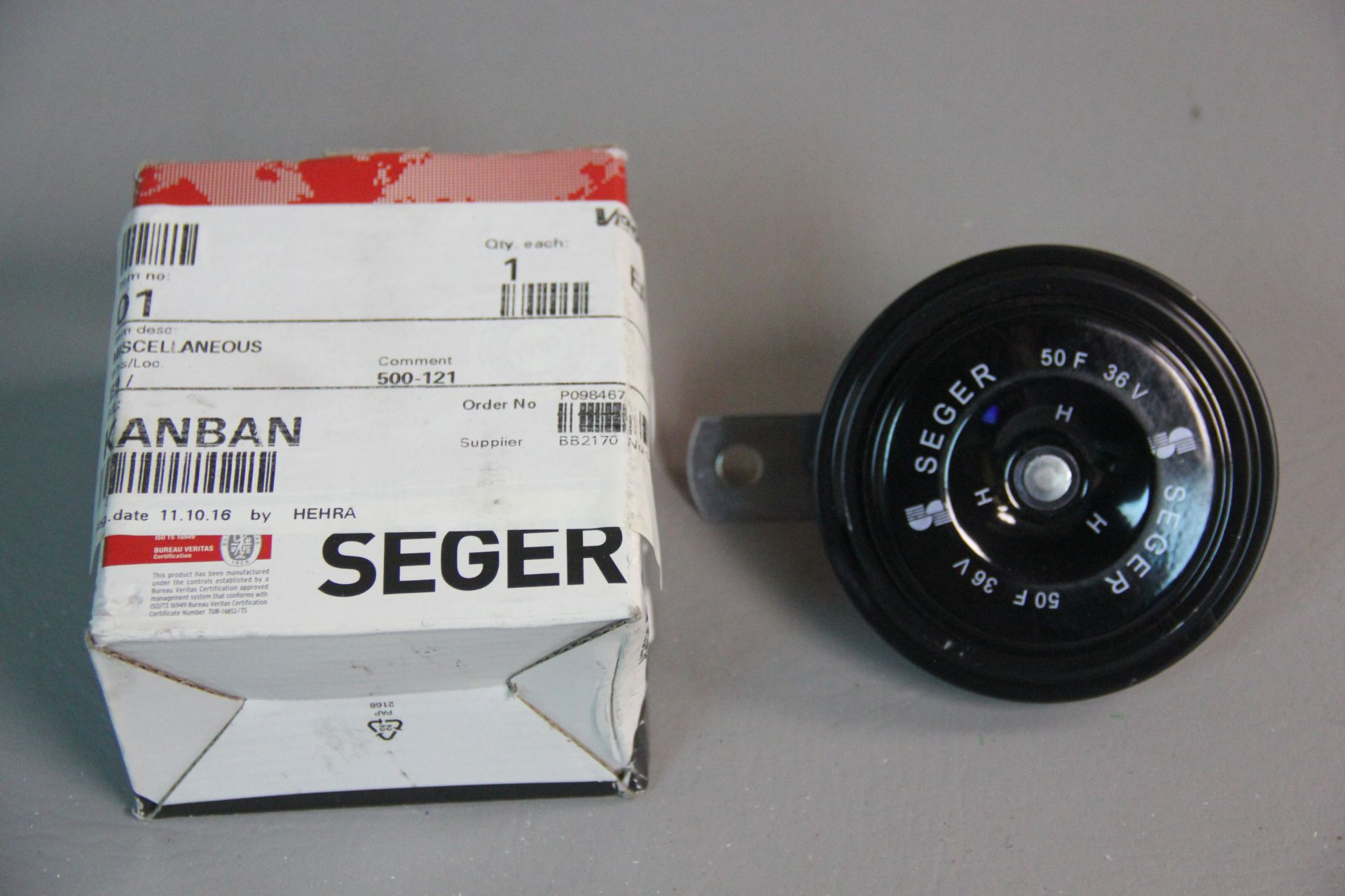 NEW SEGER INDUSTRIAL DISC SAFETY HORN