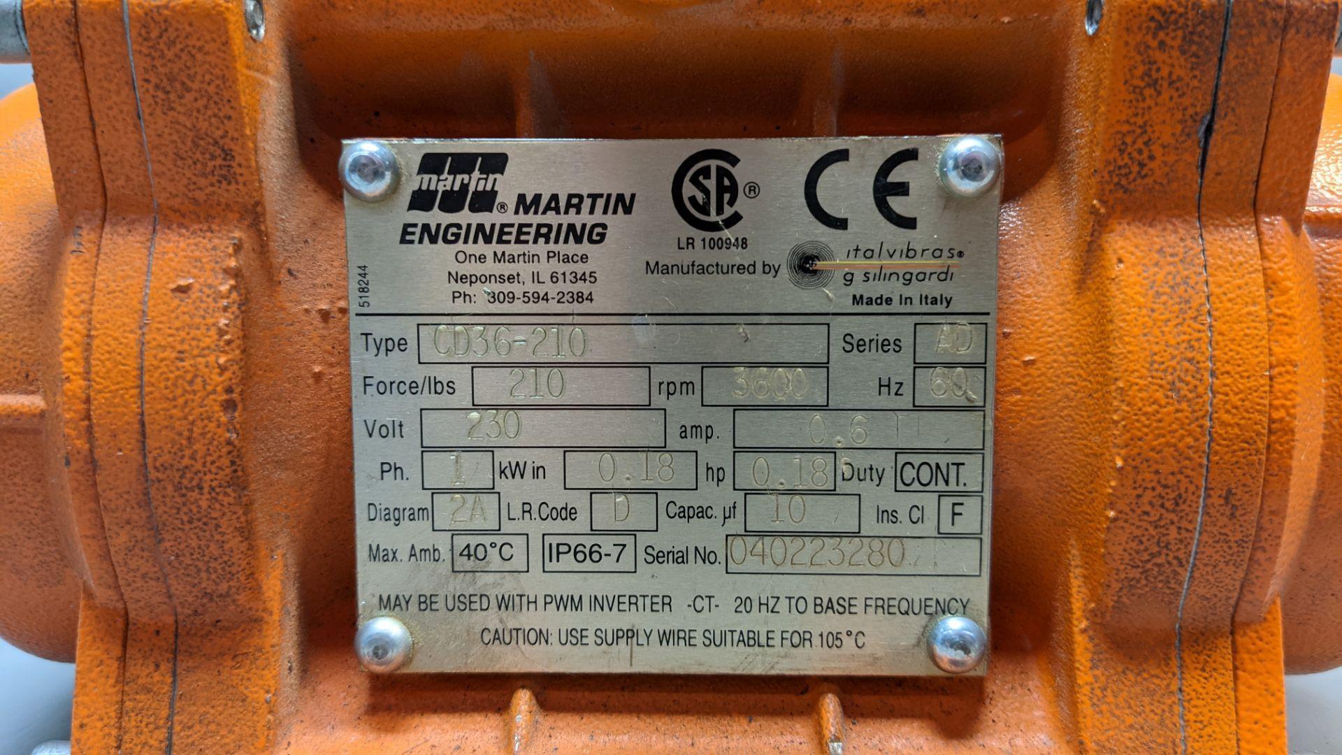 MARTIN ENGINEERING INDUSTRIAL VIBRATOR - Image 2 of 3
