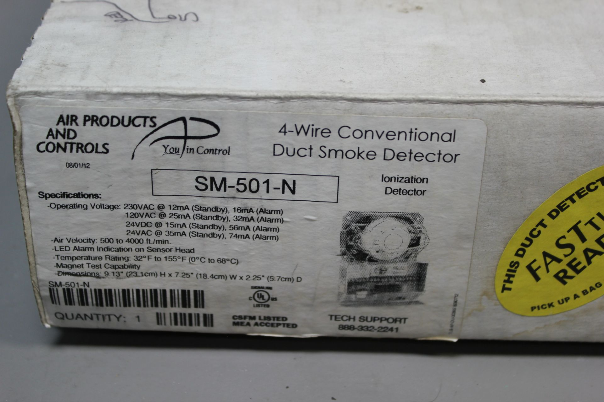 AIR PRODUCTS 4 WIRE DUCT SMOKE DETECTOR - Image 2 of 6