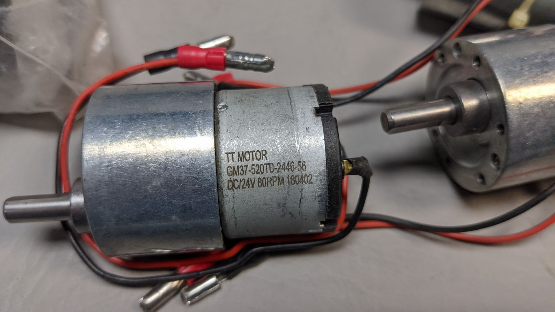 LOT OF TT MOTOR DC MOTORS WITH GEARHEADS - Image 2 of 2