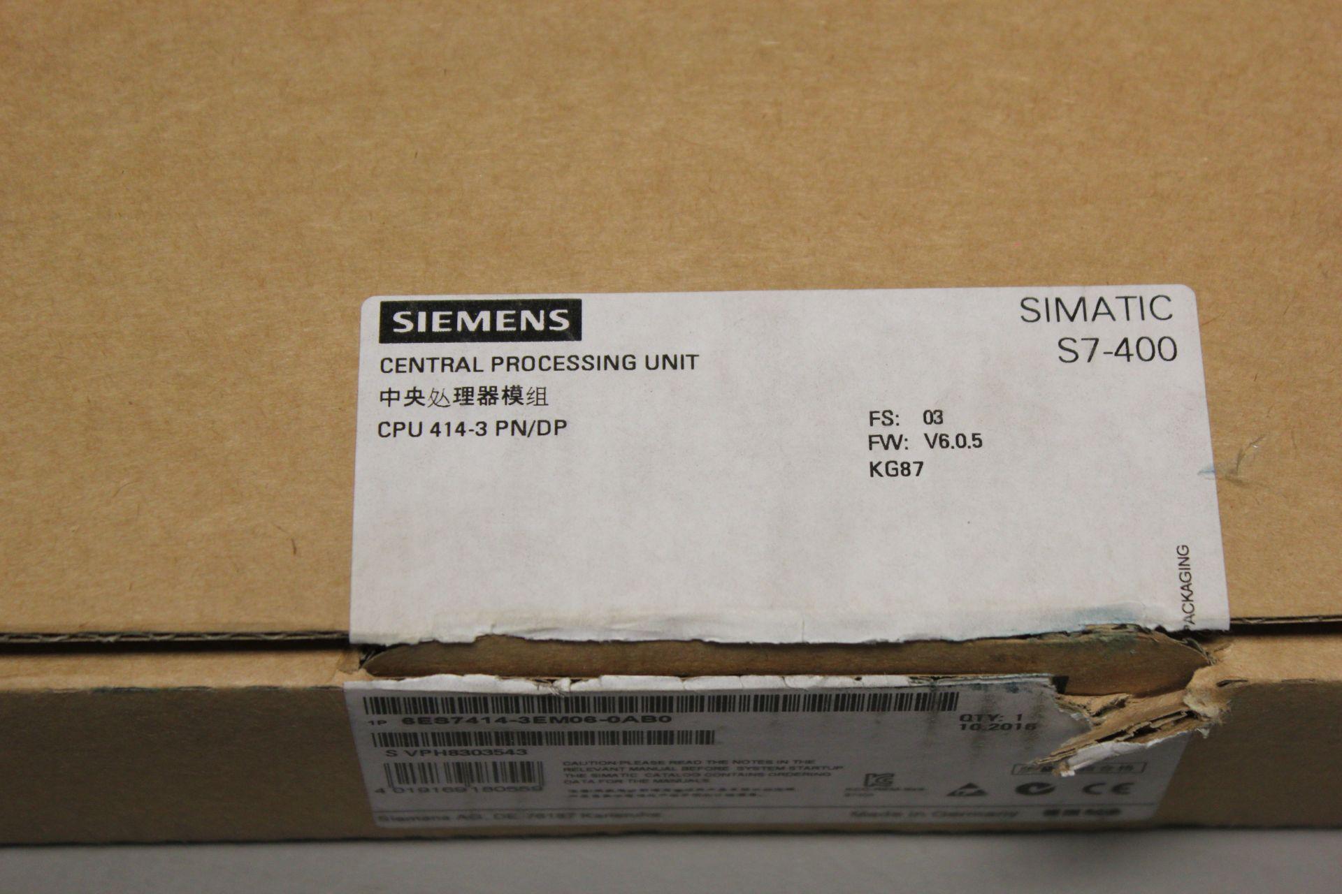 NEW SIEMENS SIMATIC S7-400 PLC CPU PROCESSOR - Image 2 of 8