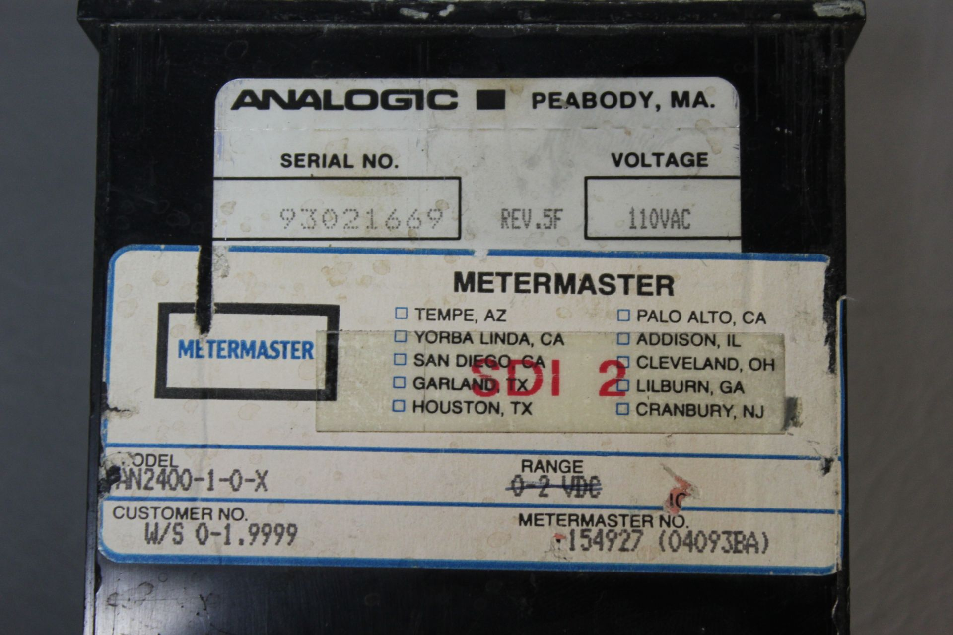 ANALOGIC VOLTAGE/CURRENT CONTROLLER PANEL METER - Image 4 of 4