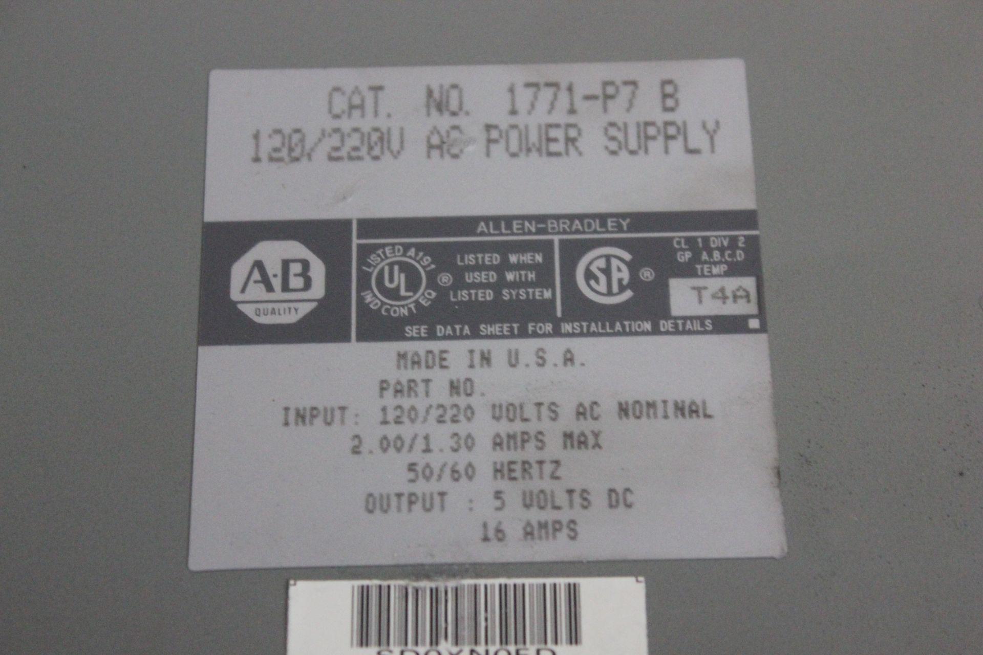 ALLEN BRADLEY PLC POWER SUPPLY - Image 3 of 3
