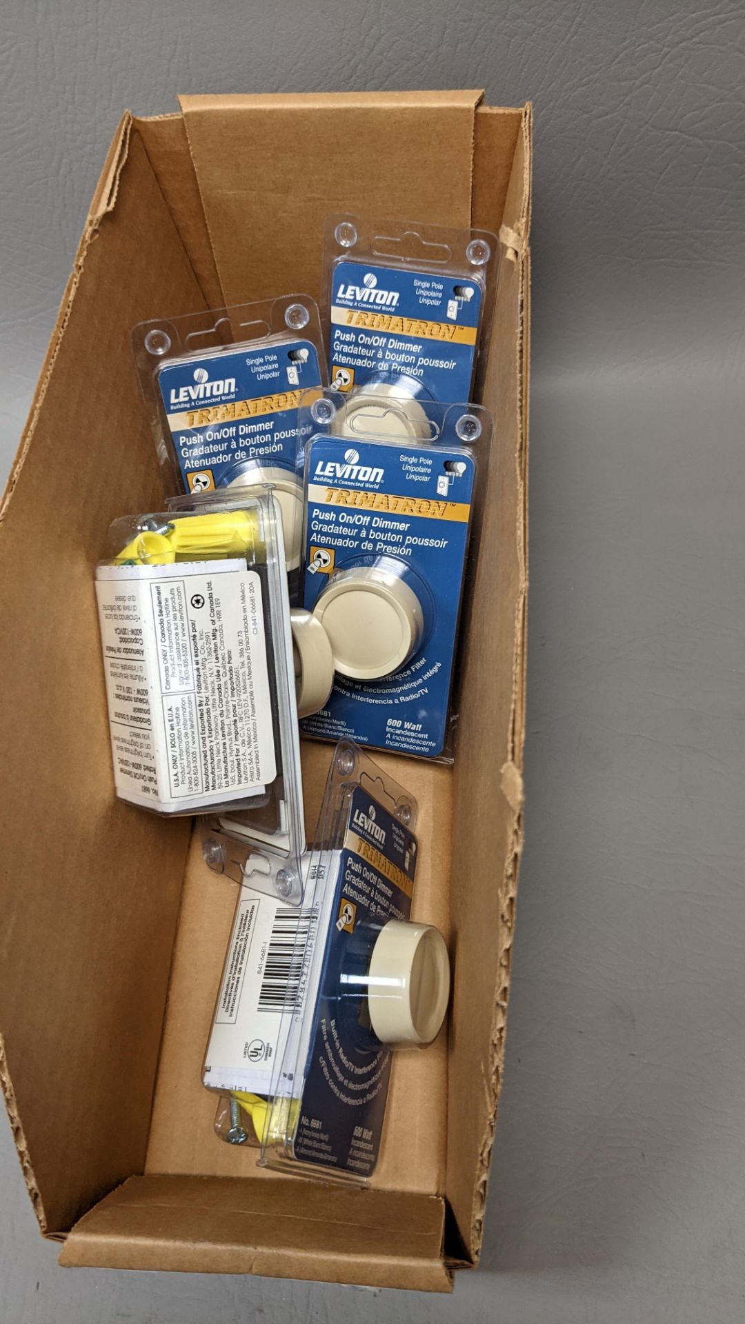 LOT OF NEW LEVITON PUSH ON/OFF LIGHT DIMMERS - Image 5 of 5